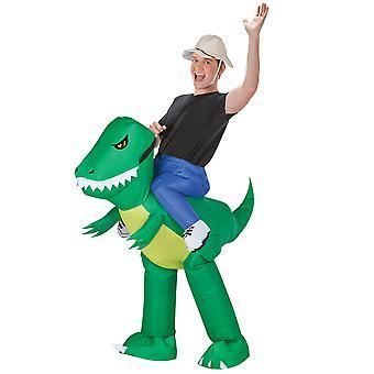 Inflate Dinosaur Rider Adult Costume