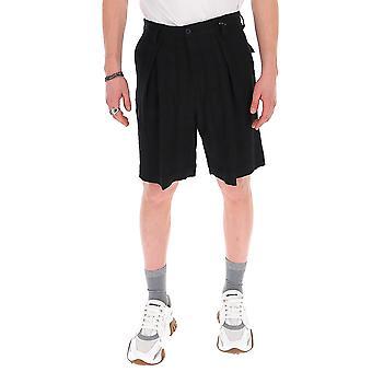 Ann Demeulemeester 20073410208099 Uomini's Pantaloncini di cotone nero