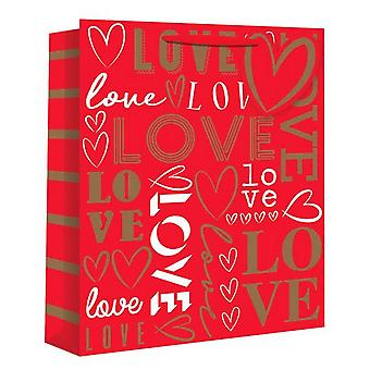 Eurowrap Love Text Gift Bags (Pack of 12)
