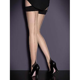 Womens Full Figure Plus Size Cuban Heel Stockings Thigh Highs Hosiery For Garter Belts