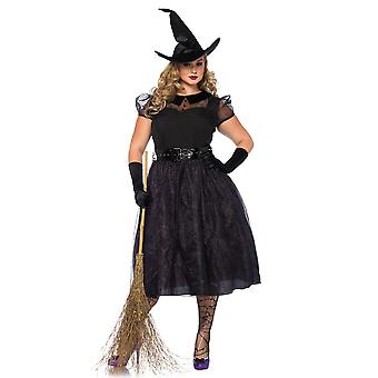 Plus Size Curvy Vintage Darling Spellcaster Witch Costume