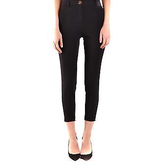 Boutique Moschino Ezbc170030 Women's Black Acetate Pants