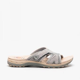 Earth Spirit Wickford Ladies Suede Mule Sandals Frost Grey