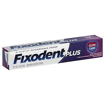 Fixodent plus gum care superior hold denture cream, flavor free, 2 oz