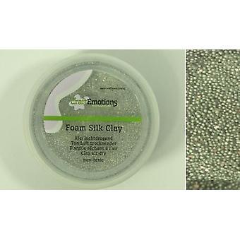 CraftEmotions Foamball clay - silver glitter 75ml - 23gr Air dry