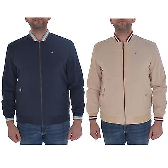 Lambretta Mens Triple Tipped Monkey Regelbunden Fit Zipped Bomber Jacket Top