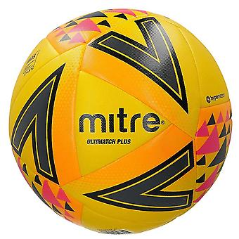 Mitre Ultimatch Plus IMS Match Voetbal Voetbal Bal Geel/Oranje/Roze