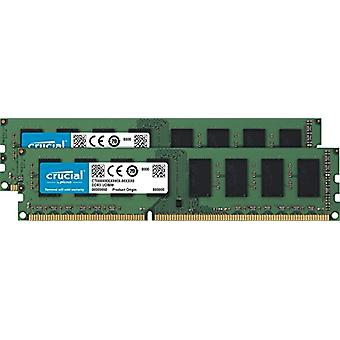 Crucial 8GB Kit (4GBx2) DDR3L 1600 MT/s (PC3L-12800) Unbuffered UDIMM Memory CT2K51264BD160B