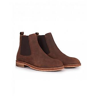 H By Hudson Rowan Wax Leather Chelsea Boots