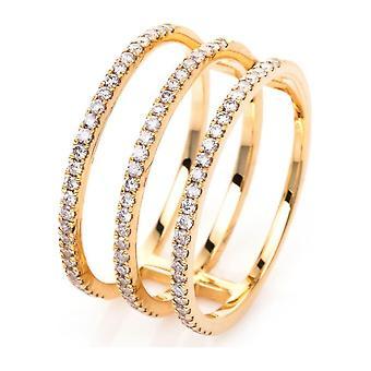 Bague diamant - 18K 750/- Or Jaune - 0,47 ct. - 1I924G853 - Largeur de l'anneau: 53