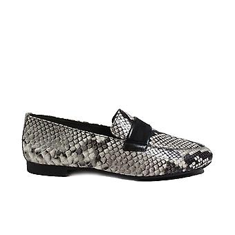 Paul Green 2462-09 Pebble Reptile Effect Leather Womens Slip On Loafer Shoes