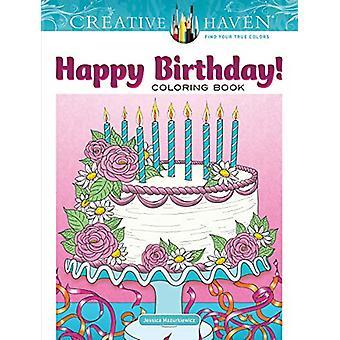 Creative Haven Happy Birthday! Coloring Book by Jessica Mazurkiewicz