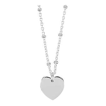 Orton West Heart Shaped Pendant - Silver