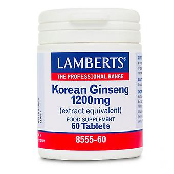 LAMBERTS Korean Ginseng 1200mg tabletit 60 (8555-60)