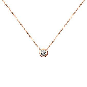 Baby Ketting Diamond Solitaire 0.10 karaat en 18K Gold - Rose Gold
