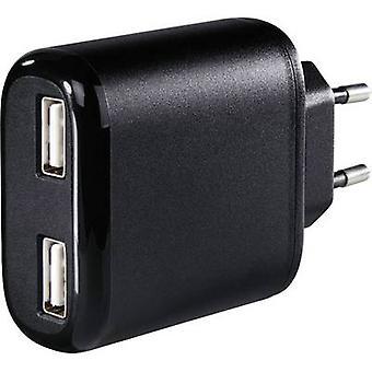 Hama 2-fach 173608 CHARGEUR USB Mains socket Max. courant de sortie 4800 mA 2 x USB