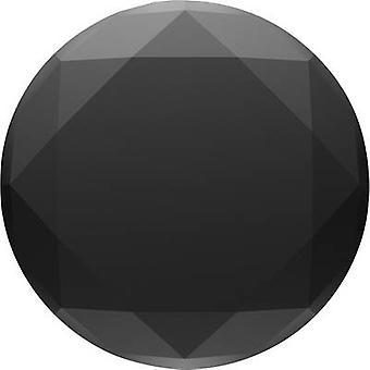 POPSOCKETS PopTop Metallic Diamond Black Mobile phone stand Black, Aluminium