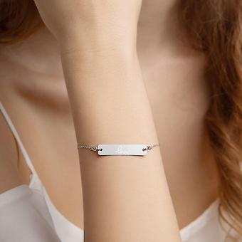 925 Bransoletka ze srebrnym łańcuszkiem | Miłość