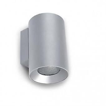 Led Outdoor Small Wall Light Grey Ip55
