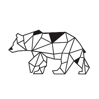 Mur Bear Color Black Steel décoration 55x0.15x30 cm