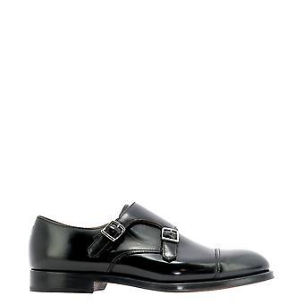 Doucal's Du1025orviuf007nn00 Men's Black Leather Monk Strap Shoes