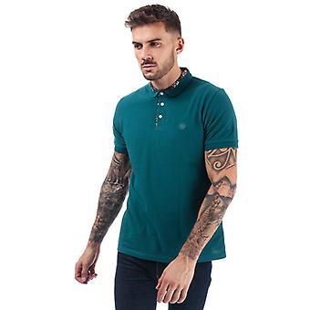 Men's Pretty Green Nightshade Carver Polo Shirt em Turquesa