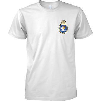 HMS Unicorn - udrangeret Royal Navy skib T-Shirt farve