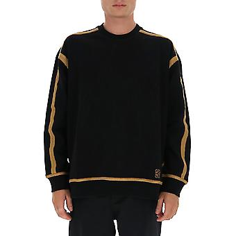 Loewe H526341x901119 Men's Black Cotton Sweatshirt