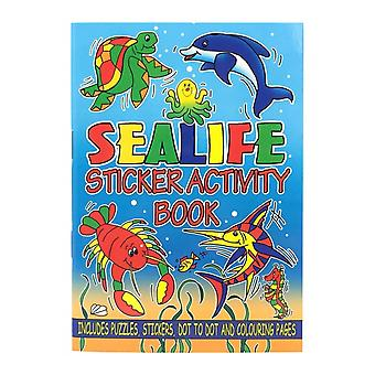 Sealife Mini Sticker Activity Book for Under the Sea Parties