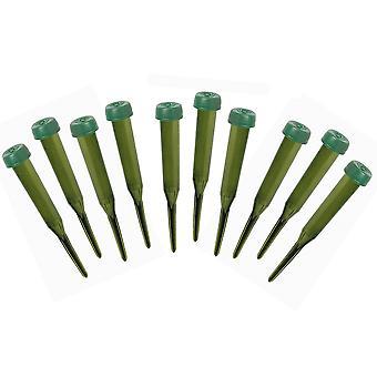 10 Groene Plastic Single Stem Water Picks voor Bloemisterij