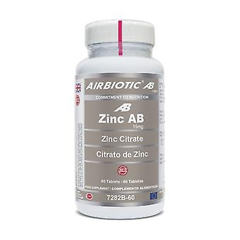 Zinc AB (as Citrate) 60 tablets of 15mg