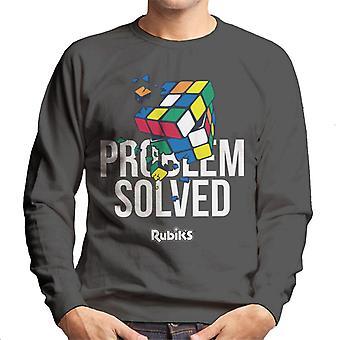 Rubik's Cube probleem opgelost mannen Sweatshirt