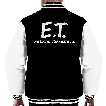 E.T. Retro Text Logo Men's Varsity Jacket