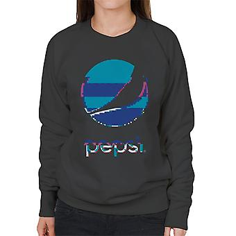Pepsi Glitch Stacked Logo Women's Sweatshirt