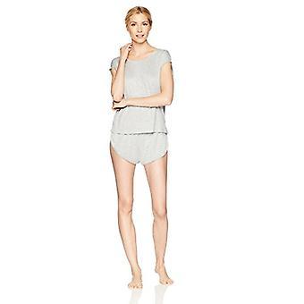 Brand - Mae Women's Sleepwear Curved Trim T Shirt en Short Pajama Set...