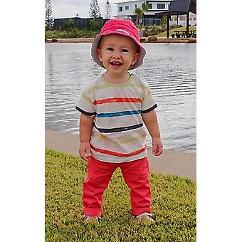 Mamino Baby Michael White and Coral Trouser and T Shirt Set