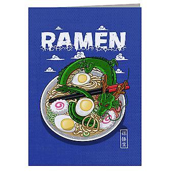 Dragon Ball Z Shenron Dragon Ramen Greeting Card
