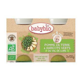 Orgaaniset vihreät papututukot (4 kuukaudesta alkaen) 2 yksikköä 130 g