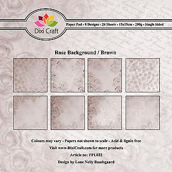 Dixi Craft Rose Achtergrond Brown 6x6 Inch Paper Pack