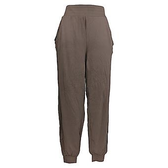AnyBody Women's Pants Tall Cozy Knit Ribbed Jogger Pants Beige A365608