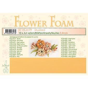 Leane Creatief Flower Foam Sheets A4 Mustard