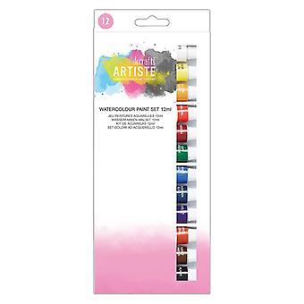 Docrafts الألوان المائية مجموعة الطلاء 12ml (12pk) (DOA 551004)