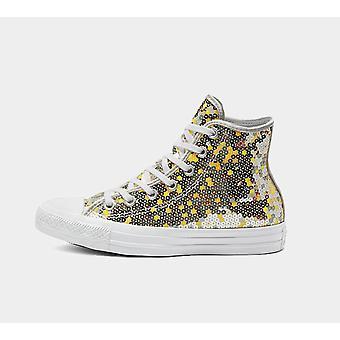 Converse Ctas Hi 562444C Pure Silver Womens Shoes Boots