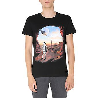 Balmain Uh01601i374aaa Men's Multicolor Bomull T-shirt