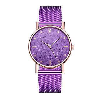 HEZHUKEJI Watch Quartz Ladies - Luxury Anologue Movement for Women Purple