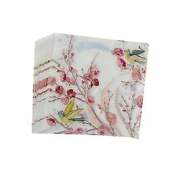 20pcs Printed Flower Paper Napkins For Wedding And Party Decoration Tissue