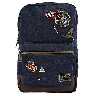 Loungefly Harry Potter Hogwarts Denim Backpack