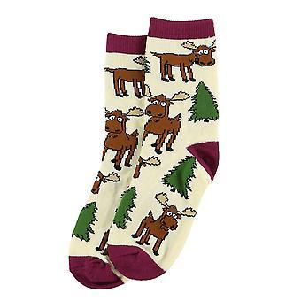 Lazy One Moose Hug KSK320 Girl's Socks