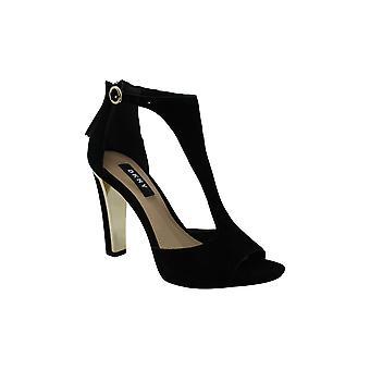 DKNY naiset's kengät colby nilkka hihna nahka avoin toe muodollinen nilkan hihna hiekka ...