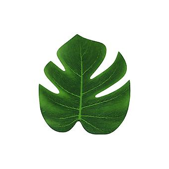 10PCS Artificial Tropical Palm Leaf Monstera Fake Green Leaf Medium